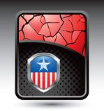 Patriotic icon on red cracked background Royalty Free Stock Image