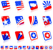 Patriotic icon set Stock Photo