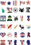 Patriotic icons Stock Images