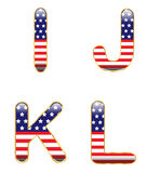 Patriotic IJKL Stock Images