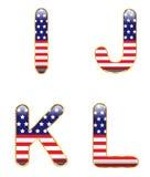 Patriotic IJKL Stock Images