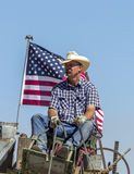 Patriotic image of cowboy. Stock Image