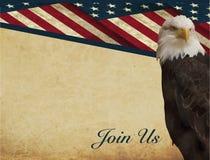 Patriotic invitation Royalty Free Stock Image