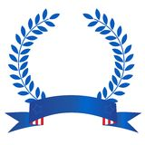 Patriotic laurel wreath Stock Images