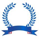 Patriotic laurel wreath Stock Images