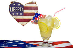 Patriotic Lemonade Stock Photo