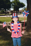 Patriotic Little Girl Stock Images