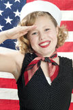 Patriotic Little Girl Stock Image