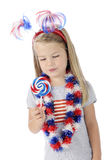 Patriotic Lollipop Royalty Free Stock Photo