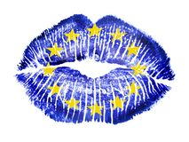 Patriotic love - EU Royalty Free Stock Images