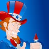 Patriotic Man Vector Art Royalty Free Stock Image