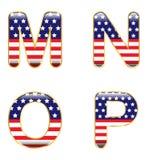 Patriotic MNOP Stock Image