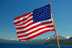 Patriotic Mountain Views Royalty Free Stock Images