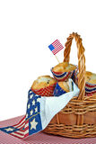 Patriotic Muffins Stock Images