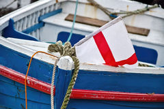 Patriotic old Boat Royalty Free Stock Photography