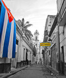 Patriotic old Havana Royalty Free Stock Photo
