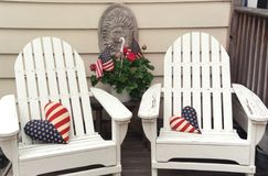 Patriotic pair Stock Photography