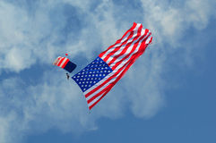 Patriotic Parachutist Stock Photos