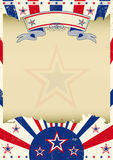 Patriotic parchment background Stock Image