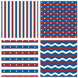 Patriotic patterns Stock Images
