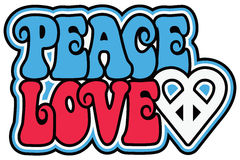 Patriotic Peace Love Royalty Free Stock Images