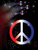 Patriotic Peace Poster Royalty Free Stock Photography