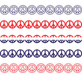 Patriotic Peace Sign Borders Royalty Free Stock Photos