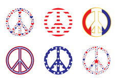 Patriotic Peace signs Royalty Free Stock Images