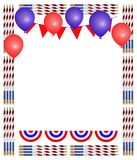 Patriotic Pencil Frame Royalty Free Stock Photos