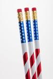 Patriotic Pencils Stock Photo