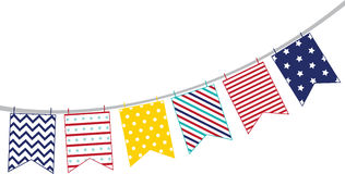 Patriotic Pennant Stock Images