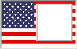 Patriotic Picture Frame royalty free stock image