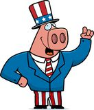 Patriotic Pig Stock Image
