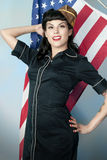 Patriotic Pin Up Royalty Free Stock Photos
