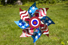 Patriotic Pinwheel. A patriotic pinwheel for the Fourth of July holiday Royalty Free Stock Photos
