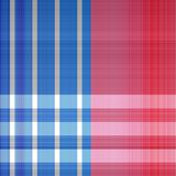 Patriotic Plaid Textile Print Pattern. A red, white and blue star spangled banner plaid print Royalty Free Stock Photo