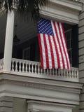Patriotic porch stock photography