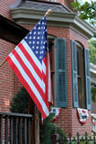 Patriotic Porch Flag Royalty Free Stock Photos