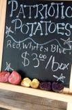 Patriotic potatoes Royalty Free Stock Photos