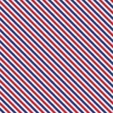 Patriotic red, white, blue geometric seamless pattern Royalty Free Stock Photos