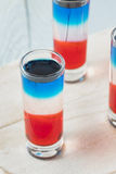 Patriotic Red White and Blue Shots Royalty Free Stock Images