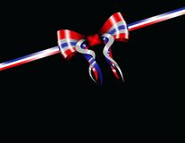 Patriotic ribbon Royalty Free Stock Photography