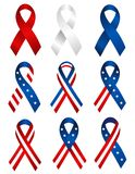 Patriotic ribbon Royalty Free Stock Photo