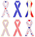 Patriotic Ribbons Royalty Free Stock Photography