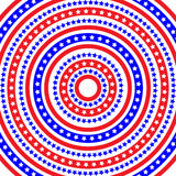 Patriotic Ring Pattern Stock Photos