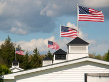 Patriotic Rooftop #1 Royalty Free Stock Photography