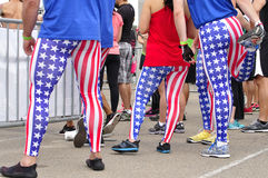 Patriotic runners Stock Photos