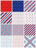 Patriotic Seamless Pattern Stock Photo