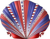 Patriotic Seashell Royalty Free Stock Images