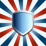 Patriotic shield background Stock Image